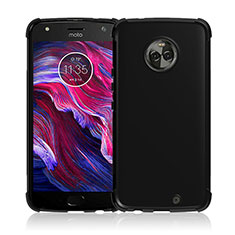 Funda Silicona Goma para Motorola Moto X4 Negro