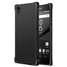 Funda Silicona Goma para Sony Xperia XA1 Plus Negro