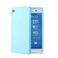Funda Silicona Goma para Sony Xperia Z3+ Plus Azul