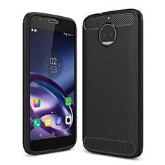 Funda Silicona Goma TPU para Motorola Moto G5S Plus Negro
