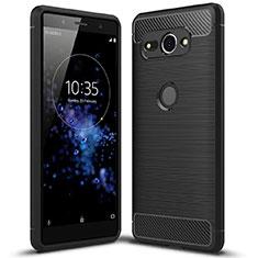 Funda Silicona Goma Twill con Soporte para Sony Xperia XZ2 Compact Negro
