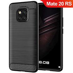 Funda Silicona Goma Twill para Huawei Mate 20 RS Negro