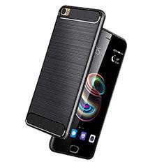 Funda Silicona Goma Twill para Huawei P8 Max Negro