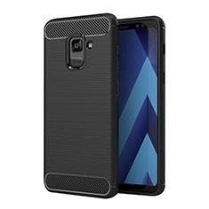 Funda Silicona Goma Twill para Samsung Galaxy A5 (2018) A530F Negro