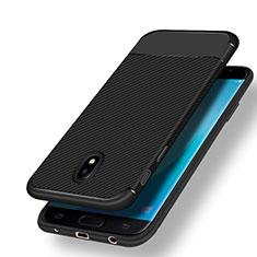 Funda Silicona Goma Twill para Samsung Galaxy J7 (2017) SM-J730F Negro