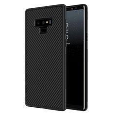 Funda Silicona Goma Twill para Samsung Galaxy Note 9 Negro