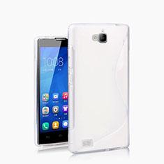 Funda Silicona S-Line para Huawei Honor 3C Blanco