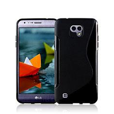 Funda Silicona S-Line para LG X Cam Negro