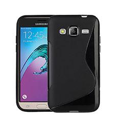 Funda Silicona S-Line para Samsung Galaxy J3 (2016) J320F J3109 Negro