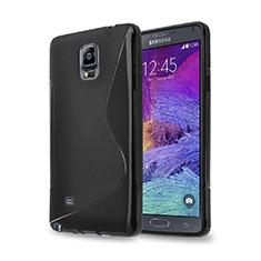 Funda Silicona S-Line para Samsung Galaxy Note 4 Duos N9100 Dual SIM Negro