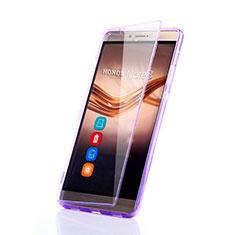 Funda Silicona Transparente Cubre Entero para Huawei Honor V8 Max Morado