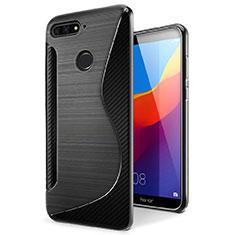 Funda Silicona Transparente S-Line Carcasa para Huawei Honor 7A Negro