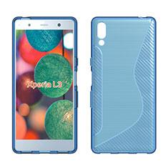 Funda Silicona Transparente S-Line Carcasa para Sony Xperia L3 Azul