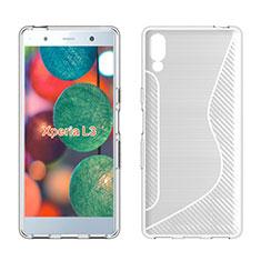 Funda Silicona Transparente S-Line Carcasa para Sony Xperia L3 Blanco