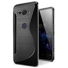 Funda Silicona Transparente S-Line Carcasa para Sony Xperia XZ2 Compact Negro