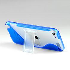 Funda Silicona Transparente S-Line con Soporte para Apple iPod Touch 5 Azul