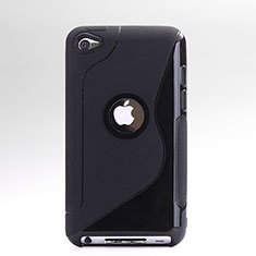 Funda Silicona Transparente S-Line para Apple iPod Touch 4 Negro