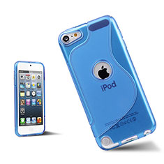 Funda Silicona Transparente S-Line para Apple iPod Touch 5 Azul