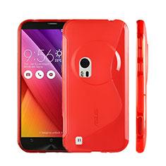 Funda Silicona Transparente S-Line para Asus Zenfone Zoom ZX551ML Rojo