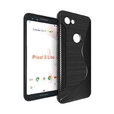 Funda Silicona Transparente S-Line para Google Pixel 3a Negro