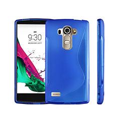 Funda Silicona Transparente S-Line para LG G4 Beat Azul