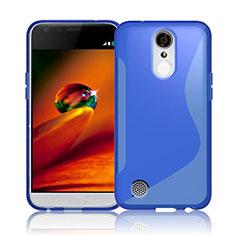 Funda Silicona Transparente S-Line para LG K10 (2017) Azul