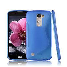 Funda Silicona Transparente S-Line para LG K10 Azul