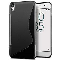 Funda Silicona Transparente S-Line para Sony Xperia E5 Negro
