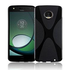 Funda Silicona Transparente X-Line T01 para Motorola Moto Z Play Negro
