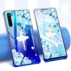 Funda Silicona Ultrafina Carcasa Transparente Flores para Xiaomi Redmi Note 8 Blanco