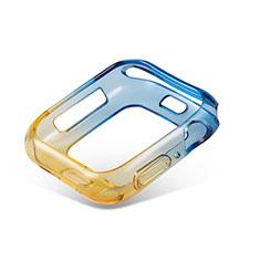 Funda Silicona Ultrafina Carcasa Transparente Gradiente G01 para Apple iWatch 5 44mm Amarillo