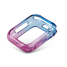 Funda Silicona Ultrafina Carcasa Transparente Gradiente G01 para Apple iWatch 5 44mm Azul