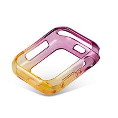Funda Silicona Ultrafina Carcasa Transparente Gradiente G01 para Apple iWatch 5 44mm Morado