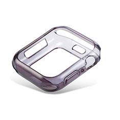 Funda Silicona Ultrafina Carcasa Transparente Gradiente G01 para Apple iWatch 5 44mm Negro