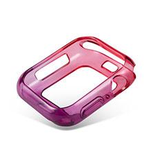 Funda Silicona Ultrafina Carcasa Transparente Gradiente G01 para Apple iWatch 5 44mm Rojo