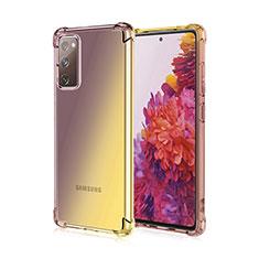 Funda Silicona Ultrafina Carcasa Transparente Gradiente G01 para Samsung Galaxy S20 FE 5G Marron