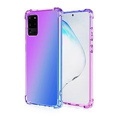 Funda Silicona Ultrafina Carcasa Transparente Gradiente G01 para Samsung Galaxy S20 Ultra Morado