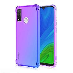 Funda Silicona Ultrafina Carcasa Transparente Gradiente H01 para Huawei P Smart (2020) Azul