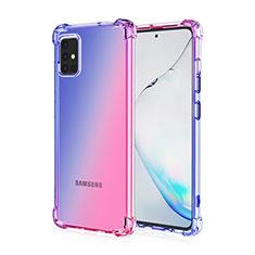Funda Silicona Ultrafina Carcasa Transparente Gradiente para Samsung Galaxy A51 4G Azul