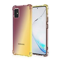 Funda Silicona Ultrafina Carcasa Transparente Gradiente para Samsung Galaxy A51 4G Marron