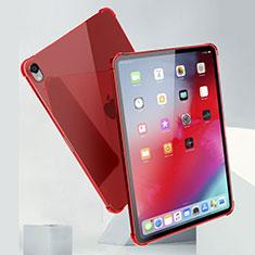 Funda Silicona Ultrafina Carcasa Transparente H01 para Apple iPad Pro 11 (2018) Rojo