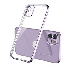 Funda Silicona Ultrafina Carcasa Transparente H01 para Apple iPhone 12 Max Morado