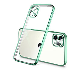 Funda Silicona Ultrafina Carcasa Transparente H01 para Apple iPhone 12 Pro Verde