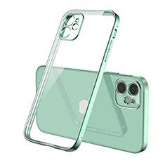 Funda Silicona Ultrafina Carcasa Transparente H01 para Apple iPhone 12 Verde