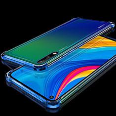 Funda Silicona Ultrafina Carcasa Transparente H01 para Huawei Enjoy 10 Azul