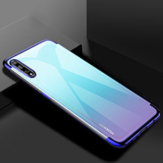 Funda Silicona Ultrafina Carcasa Transparente H01 para Huawei Enjoy 10S Azul