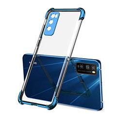Funda Silicona Ultrafina Carcasa Transparente H01 para Huawei Enjoy 20 Pro 5G Azul