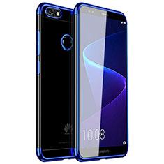 Funda Silicona Ultrafina Carcasa Transparente H01 para Huawei Enjoy 7 Azul