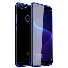 Funda Silicona Ultrafina Carcasa Transparente H01 para Huawei Enjoy 7S Azul
