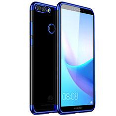 Funda Silicona Ultrafina Carcasa Transparente H01 para Huawei Enjoy 8 Plus Azul